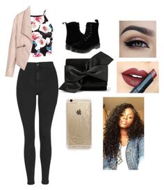 """""""Hacked by Kiara. I love you gorgeous!"""" by makenzie-conley ❤ liked on Polyvore featuring beauty, Topshop, Zizzi, Dr. Martens, Victoria Beckham, Rifle Paper Co and Fiebiger"""