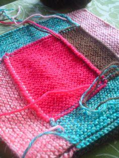 Log Cabin Knitting - Fabric.com Blog Knitted Blankets, Baby Blankets, Circular Needles, Knitting Socks, Knits, Squares, Knit Crochet, Knitting Patterns, Diy Crafts