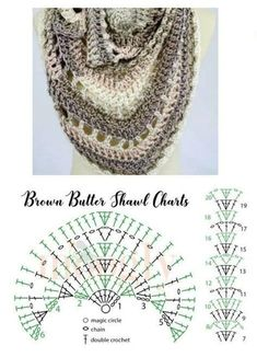 Crochet this easy beginner friendly wrap shawl scarf with my free pattern and simple stitch chart! This post was discovered by es Mix it Up Shawl / Omslagdoeken / Haken Learning The Craft Of Crochet Stitches – Love Crochet & Knitting Crochet Triangle, Crochet Motifs, Crochet Diagram, Crochet Art, Crochet Crafts, Double Crochet, Crochet Stitches, Crochet Projects, Crochet Patterns