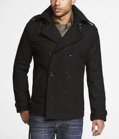 express mens pea coat black