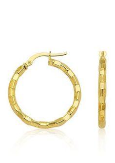 Belk  Co.  14k Yellow Gold Round Hoop Earrings