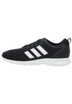 finest selection 630e8 a011e Black Adidas Trainers, Adidas Originals Zx Flux, Smooth, Core, Black White,