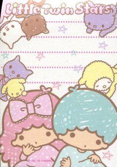 【2012】Memo Pad ★Little Twin Stars★