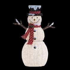 Home Accents Holiday 6 ft. Pre-Lit Big Snowman-TY608-1511 - The Home Depot
