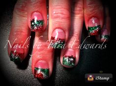 Christmas Acrylic Nails, Nail Art Sugar N Spice Salon Butte, MT 59701 406-782-0000