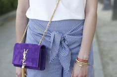 Striped Pants With Bow | BeSugarandSpice - Fashion Blog