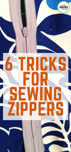 Sewing in a zipper is one of the most intimidating and sometimes frustrating part of a sewing project. It always seems like the zipper or top fabric – or both – wants to move around.