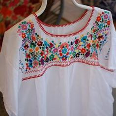 Embroidered Mexican Blouse, Puebla