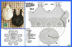 """crohcet shoppin gbags with pienapple [ """"Crochet Designs Free: For those who love crochet bag I found three beautiful bags with revenue."""", """"Crochet Bags with Pineapple motif free pattern. Crochet Diagram, Crochet Chart, Love Crochet, Filet Crochet, Easy Crochet, Crochet Top, Crochet Motif, Beautiful Crochet, Single Crochet"""