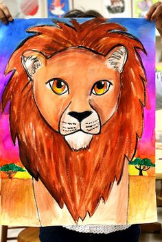 grade week 7 Great lesson for mixing colors! And would work well with my African Art unit. African Art Projects, Animal Art Projects, Classroom Art Projects, School Art Projects, Tiger Painting, 6th Grade Art, Africa Art, Lion Art, Art Lessons Elementary