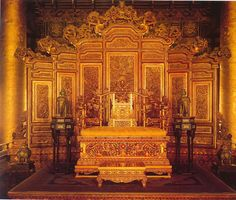 Throne in the Forbidden City Palace.