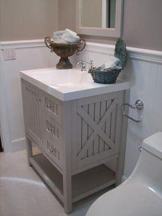Bathroom Vintage Farmhouse Style! on Pinterest | Farmhouse Bathrooms ...