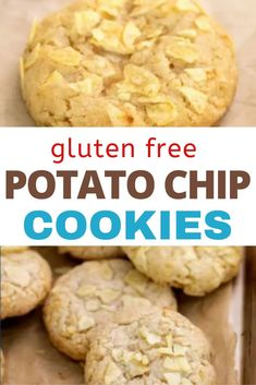 The ideal salty-sweet cookie, these gluten free potato chip cookies have every texture you can imagine. They're chewy on the inside and buttery-crisp on the edges, with the crunch of potato chips throughout. Best Gluten Free Cookie Recipe, Best Gluten Free Desserts, Delicious Cookie Recipes, Gluten Free Baking, Dessert Recipes, Potato Chip Cookies, Potato Chips, Sample Recipe, Bite Size Desserts