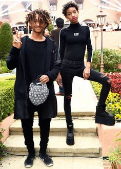 """""""Jaden Smith and singer Willow Smith attend Roc Nation and Three Six Zero Pre-GRAMMY Brunch """""""