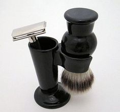 Ceramic Shaving Brush Stand And Razor Holder by Sculpta Ceramics, the perfect gift for Explore more unique gifts in our curated marketplace. Shaving Stand, Shaving Brush, Ceramic Brush, Razor Stand, Mens Razors, Plaster Molds, Male Grooming, Moisturizer