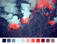 • smoke landscape fire blue pink purple colors lava lavender transparent dark blue color palette baby blue naturalpalettes •