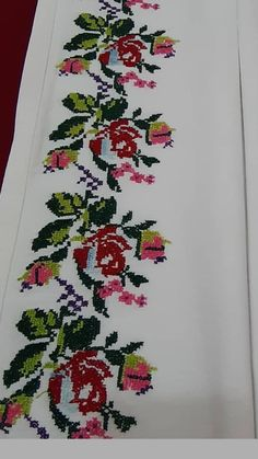 Cross Stitch Borders, Decor, Cross Stitches, Cross Stitch Embroidery, Towels, Throw Pillows, Roses, Dots, Decoration