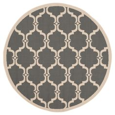 Safavieh Harrie Outdoor Rug - Anthracite (Grey) / Beige (