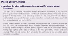 """Fat removal """"wonder treatments"""" Stick with #liposuction  http://docweinstein.com/new-jersey-plastic-surgeon-in-the-news/plastic-surgery-articles 908-879-2222"""