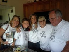 My sister, nephew, mom and dad helping me celebrate the publication of SAWIP!