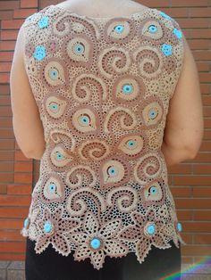 блузка Шербет ирландское кружево. ФАДЕЕВА НИНА,