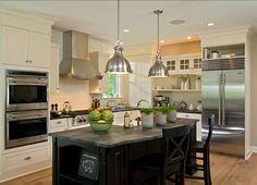 Off-White Kitchen. This #Off-white #Kitchen is perfect. Great Design! Off-white Kitchen
