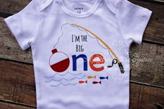 I'm the Big One First Birthday Onesie Fishing by MySweetPeaCouture