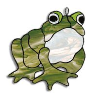 Free Pattern, Sebastian stained glass frog