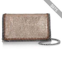 Stella McCartney The Falabella metallic faux leather shoulder bag