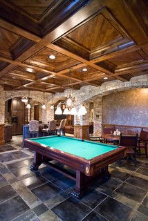 Billiard Room - traditional - basement - other metro - by Jarrod Smart Construction