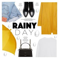 """Untitled #1009"" by intellectual-blackness ❤ liked on Polyvore featuring Levi's, Rochas, Acne Studios, Fendi, StyleNanda and rainyday"