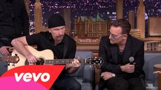 U2 performing on premiere of Tonight Show with Jimmy Fallon, Mon, Feb 17, 2014 Song--Ordinary Love (Mandela soundtrack)