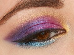 Gorgeous Makeup: Tips and Tricks With Eye Makeup and Eyeshadow – Makeup Design Ideas Neutral Eye Makeup, Bright Eye Makeup, Subtle Makeup, Makeup For Green Eyes, Smokey Eye Makeup, Colorful Makeup, Purple Eyeshadow Looks, Bright Eyeshadow, Gold Eyeshadow
