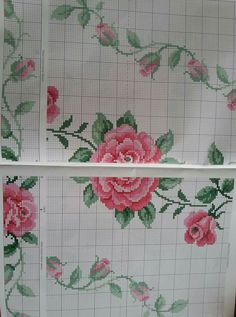 Cross Stitch Cards, Cross Stitch Rose, Bargello, Embroidery, Goblin, Inspiration, Cross Stitch Embroidery, Craft, Charms