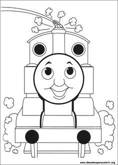 Desenho Thomas sorrindo para colorir