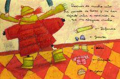 Paintings by Moni Perez, via Behance