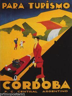 Cordoba Argentina Golf Sport Turismo vint Repro Poster   eBay