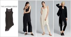 EILEEN FISHER Spring Icons Collection: The Layering Dress