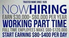If you're looking for a job, or a second income, i got something for you!  Thousands of people join daily, and you should be one of them!  Message me if youre interested in making some $$$$$$