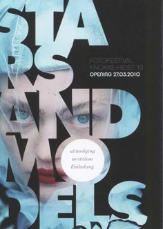 Cool Graphic Design, Stars & Models. #graphicdesign #poster [http://www.pinterest.com/alfredchong/]