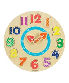 This vibrantly-hued circle puzzle is an excellent way to teach creative cuties how to tell time and learn about numbers. Ideal for encouraging fine motor skills and teaching visual discrimination, this toy entertains smart sweeties.   CHOKING HAZARD: Small parts. Not for children under 3 years