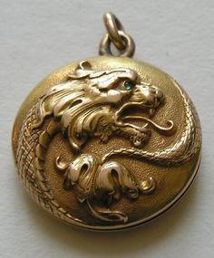 Carter Gough Griffin 14k Locket This lovely Beaux Arts locket ...