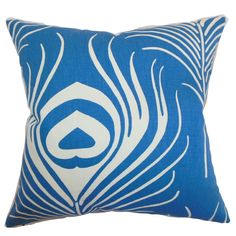 This peacock throw pillow features a classic peacock print with a modern twist. This home accessory is a definite must-have with its eye-catching and inviting design.