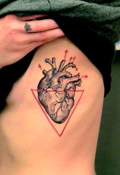 anatomical heart tattoo