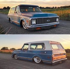 Hot Wheels - Yeah @the_only_jp and #k5larry looking a million bucks and ready to roll! She's bad. @accuair @delmospeed  Source @hotrodsandmusclecars #chevrolet #gmc #blazer #carporn #hotrod #streetrod #streettruck #streetmachine #airsuspension...