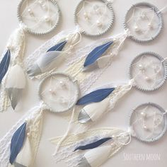 Custom Wedding Favor Dreamcatchers by SouthernMoonDreams on Etsy