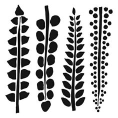 Crafters Workshop Template 12x12 Four Ferns