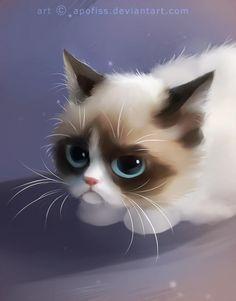 grumpy cat meets scaredy cat | Grumpy Cat | Know Your Meme