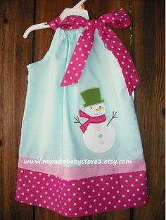 Christmas Reindeer dress for my little Miss Snowgirl.....