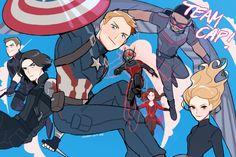 Team Cap | Captain America Civil War Fan Art